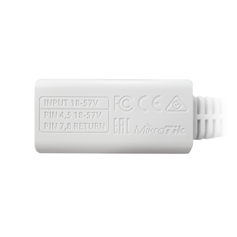 Pasiv PoE injektor gigabit skärmad
